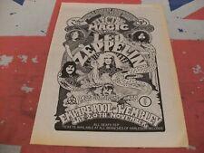 LED ZEPPELIN Live in London Empire Pool Wembley 1971 Original ADVERT/POSTER