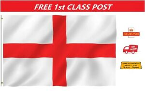 5ft X  3ft England Flag St George Cross Flags English Eyelets Double stitched