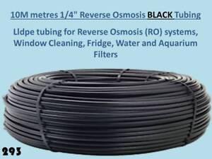 """10 metres 1/4"""" Black lldpe pipe Tubing Reverse Osmosis Water Filter Unit 10m 293"""