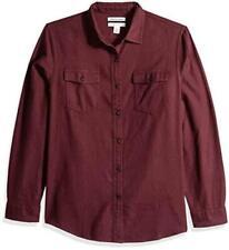 Essentials Men's Slim-Fit Long-Sleeve, Burgundy Heather, Size XX-Large