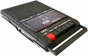 RETRO39 QFX Shoebox Tape Recorder with USB Player NEW