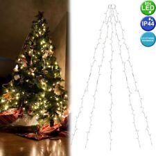Déco Jeté Éclairage Filet Arbre Noël Extérieur Intérieur 80 Leds Double Minuteur