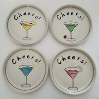 Cheers Martini Appetizer Dessert Salad Plates Set of 4