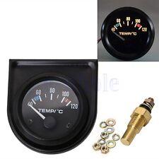 """2 Inch 52mm Auto Zeiger Wasser Temperatur Temp Gauge 40 - 120�""""ƒ Wei�Ÿ LED ED"""
