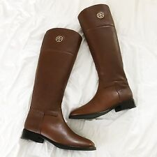 NWT RARE Tory Burch Junction Tumbled Leather Riding Boots Almond Size 7 $495