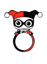 DC Comics Harley Quinn Flat Enamel Ring Size 7 Ring New with Free Shipping