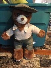 Vintage Nanco Bubba Bear With Hat And Belt, Ranger Plush Stuffed Animal