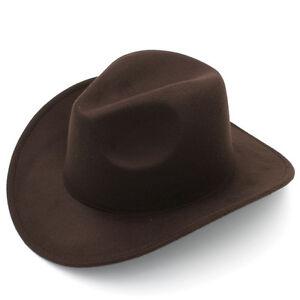 Fashion New Women Men Felt Cowboy Hat Wool Blend Western Cowgirl Cap Size L