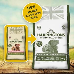 Harrington's Dog Food Complete Rich In Salmon and Potato 18 kg Free P&P NEW