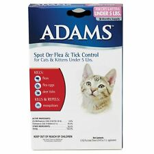 Adams Spot On Flea and Tick Control for Cats Under 5 lbs   3 Month Refill