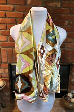 Designer PUCCI Vintage Authentic Stunning thick SILK SCARF / SHAWL / WRAP