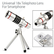 18x Zoom Camera Telephoto Telescope Lens+Mount Tripod For iPhone For Samsung HTC