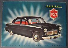 1951 English Ford Consul Sales Brochure Folder Excellent Original 51
