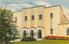 Camp Robinson Arkansas~Doors Open to Art Deco Lloyd England Hall~1940s PC