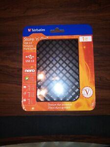 Verbatim Store N Go External Hard Drive USB 3.0 1 TB Black
