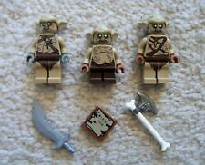 LEGO LOTR Lord Of The Rings - Rare - 3 Goblins - Soldiers & Scribe - Excellent