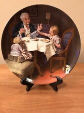 """New ListingNorman Rockwell """"The Gormet� Collectior Plate Bradford Exchange Knowles"""