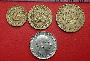 1938 4 coins from Yugoslavia - 50 Para to 10 Dinara