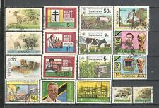 S8909 - TANZANIA 1982 - LOTTO 17 TEMATICI DIFFERENTI - VEDI FOTO