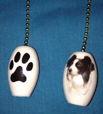 One Border Collie Dog Fan Pull With Paw Prints On The Back 1""
