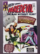 Daredevil 6 1st Series Marvel 1965 1st Mr Fear Stan Lee Wally Wood VF 8-8.5