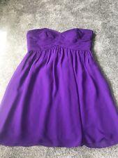 Coast Purple Strapless Dress Size 16