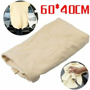 1 X Chamois Leather Cleaning Cloth Car Washing Towel Water Absorbent Rag 40*60cm