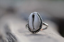 Cowrie Shell Ring by Don Biu, Nice handmade 925 silver ring, designer piece!!!