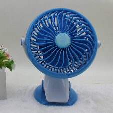 Portable Travel Fan Rechargeable USB Mini Oscillating Clip On Desk Pram Cot Car