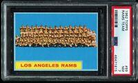 1962 Topps Football #89 LOS ANGELES RAMS TEAM CARD SHORT PRINT SP PSA 7 NM