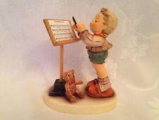 Hummel 826/I - Little Maestro, w/ Steiff Teddy Bear, TM 8, Excellent Condition!
