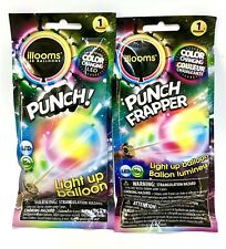 Illooms LED Punch! Light Up Balloon x1 Pack Color Changing LOT OF TWO (2)