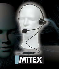 MITEX BOOM MICROPHONE HEADSET - FOR ALL MITEX TWO WAY RADIOS