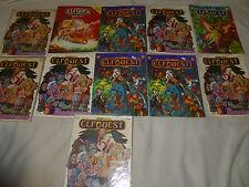 VINTAGE ELFQUEST WARP GRAPHIC COMIC BOOK LOT 7 10 14 GATHERUM 10TH ANNIVERSARY