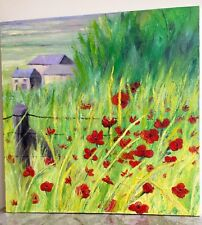 LARGE Painting Poppies Field Oil Canvas Original Impressionism #CLP #art
