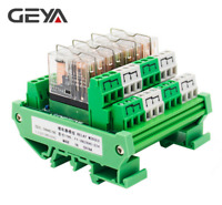GEYA 4 Channel Omron Relay Module 2NO2NC DPDT PLC RELAY Interface 12/24V AC/DC
