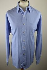 Classic mens Polo Ralph Lauren blue micro check long sleeved shirt XXL 17 1/2 44