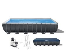 New listing Intex 24ft x 12ft x 52in Ultra Xtr Frame Swimming Pool Set with Ladder, Pump