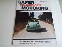 Vintage Illustrated Magazine VOLKSWAGEN SAFER MOTORING July 1981 + Advertising