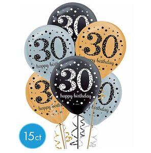 Thirtieth 30th Birthday Sparkling Celebration Balloon Party Supplies Decoration