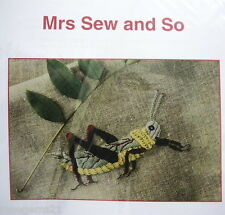 African Grasshopper ~ Embroidery PATTERN - Mrs Sew & So