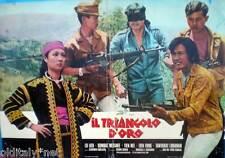 fotobusta 1976 TRIANGOLO D'ORO-Lo Lieh,Sombat Metanee,Tien Nee,Ma Wu,Rome Bunnag