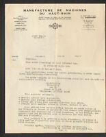 """CUSSET (03) USINE de MACHINES pour BOUCHERIE & CHARCUTERIE """"MANURHIN"""" en 1954"""