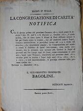1809-REGNO D'ITALIA-MONTI DI PIETA'-RAVENNA-MANIFESTO