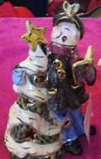 Blue Sky Clayworks Heather Goldminc Santa & Tree Mint With Tag