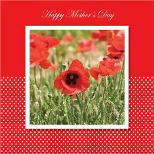Mother's Day 'Poppies' - Extra Large Square Card