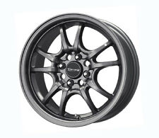 "DRAG DR29 MUGEN STYLE 15"" x 7 ET40 4x100 GUN METAL WHEELS JDM ALLOY WHEELS Z0991"