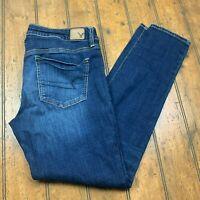 American Eagle Womens 10 Jegging Jeans Regular Blue Dark Wash Super Stretch Pant