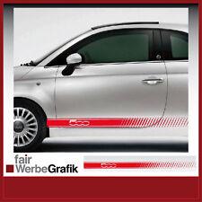 Aufkleber /  Sticker / Seitenbeschriftung / Dekor / Fiat 500 Streifen / #043