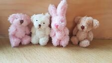 MINIATURE 3.5cm soft furry plush teddy bear bunny panda 1:12th scale dolls house